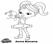 Printable Anna Banana Nick Jr Rainbow Rangers coloring pages