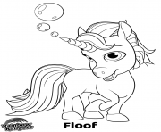 Printable Rainbow Rangers Unicorn Floof coloring pages