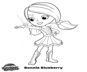 Printable Bonnie blueberry rainbow rangers coloring pages