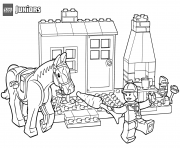 horse stables lego coloring pages
