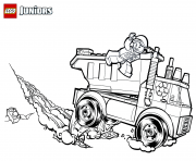 lego garbage truck coloring pages