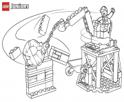 lego junior bulldozer truck coloring pages