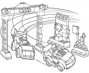 lego junior race car competition coloring pages