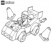 lego juniors race car coloring pages