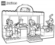 Printable lego shopping coloring pages