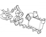 lego junior trash and garbage man coloring pages