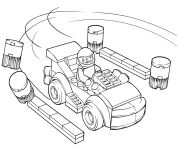 lego juniors racing car driver coloring pages
