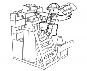 Printable lego construction worker coloring pages