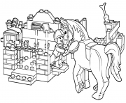 lego horse grooming coloring pages
