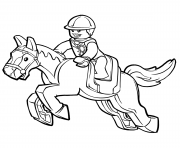 Printable lego horse coloring pages
