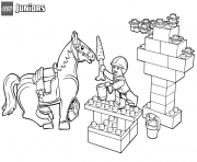 lego junior snack time for horse coloring pages