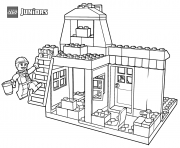 Printable lego pony farm coloring pages