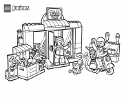 Printable lego shop sweet supermarket coloring pages