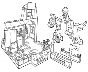lego pony farm showjumping coloring pages