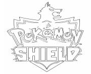 Printable pokemon shield logo coloring pages