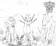 Printable pokemon go legendary coloring pages