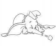 dumbo blows from his trunk coloring pages