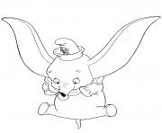 dumbo performs a stunt coloring pages