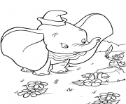 Printable timothy q mouse shows dumbo a magic feather coloring pages