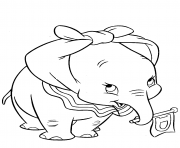 Printable dumbo with ears knotted coloring pages