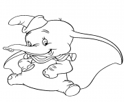 lovely dumbo coloring pages