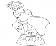 Printable dumbo in the circus coloring pages