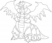 Giratina generation 4 coloring pages