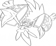Tokorico pokemon legendary Generation 7 coloring pages