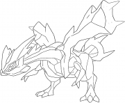 Kyurem trio Yin Yang Qi generation 5 coloring pages
