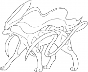 Suicune generation 2 coloring pages