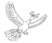 Ho Oh generation 2 coloring pages