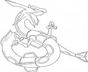 Rayquaza generation 3 coloring pages