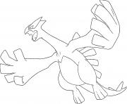 Lugia generation 2 coloring pages