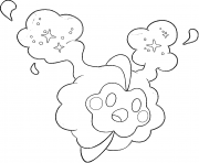 Cosmog pokemon legendary Generation 7 coloring pages