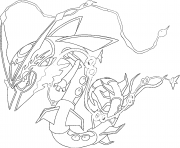 Mega Rayquaza Rubis Omega et Saphir Alpha coloring pages