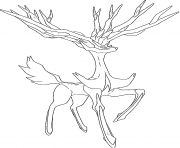 Xerneas pokemon legendary Generation 6 coloring pages
