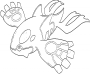 Kyogre generation 3 coloring pages