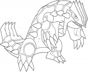 Groudon generation 3 coloring pages