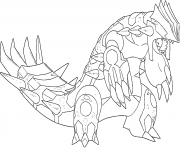 Primo Groudon Generation 6 coloring pages