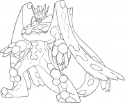 Zygarde p Pokemon Generation 7 coloring pages