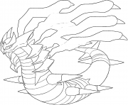 Giratina o Platine generation 4 coloring pages