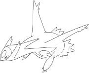 Latios generation 3 coloring pages