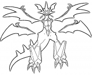 Necrozma pokemon legendary Generation 7 coloring pages