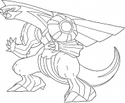 Palkia generation 4 coloring pages