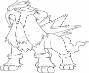 Entei generation 2 coloring pages