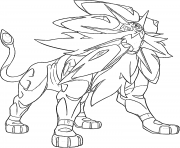 Solgaleo pokemon legendary Generation 7 coloring pages