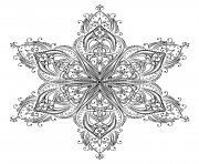 Printable mandala shaped star adult coloring pages