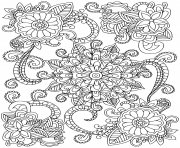 Printable mandala flowers for adults coloring pages