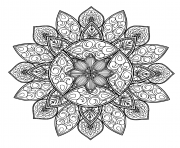 Printable mandala geometric shape adult coloring pages