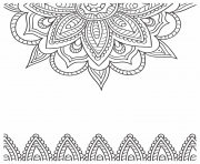 Printable Flower mandala adult 2019 coloring pages
